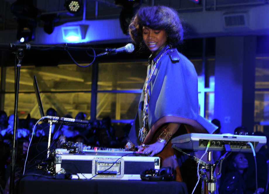 Erykah Badu as DJ Lo Down Loretta Brown at Scott Gertner's Skybar at the Houston Pavillions Photo: Dave Rossman / © 2013 Dave Rossman