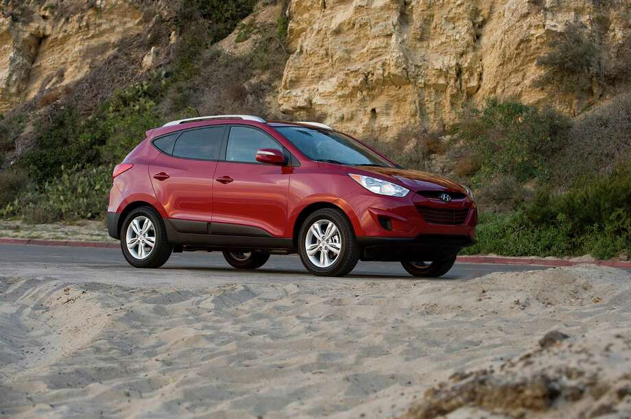 4. Hyundai Tucson: This SUV's styling gives it a leg up on its competition. According to Kelley Blue Book, it can resell for 45 percent of its original cost after 60 months.Source:Kelley Blue Book Photo: Hyundai / © Morgan J Segal