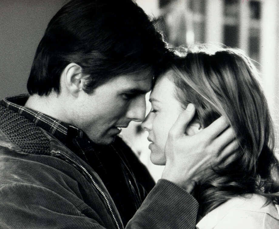 """Jerry Maguire: I love you. You ... you complete me. And I just ...  Dorothy Boyd: Shut up, [pause] just shut up. [Pause] You had me at """"hello.""""— Jerry and Dorothy in """"Jerry Maguire.""""PHOTO: Jerry (Tom Cruise) and Dorothy (Renée Zellweger) share a moment in """"Jerry Maguire."""" Photo: Sfc"""