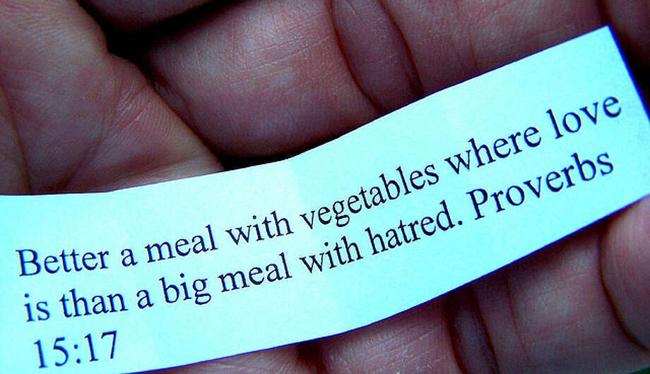 In a fortune cookie. (flattop341/Flickr Creative Commons)