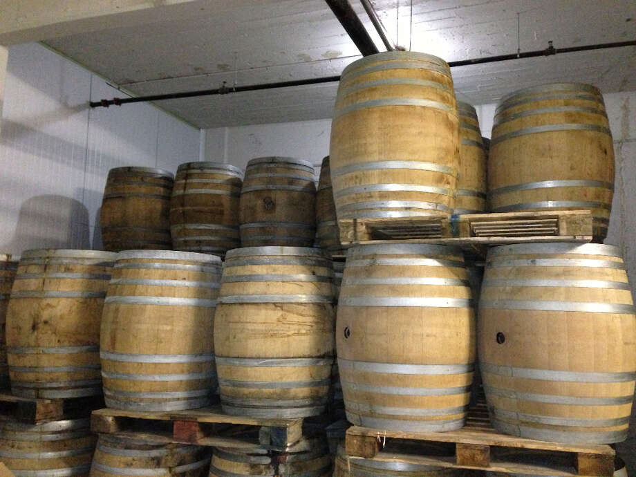These empty chardonnay barrels held what is being released as BB2.