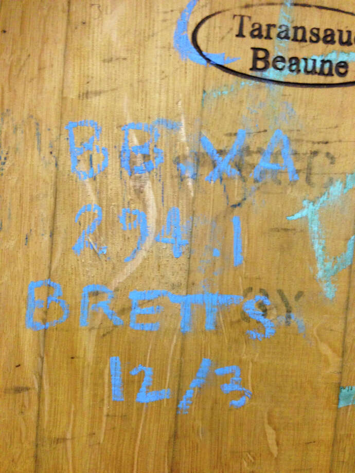 BBXA is shorthand for bourbon-barrel Christmas Ale. Bretts means Brettanomyces yeast was added to give it a wild funk.