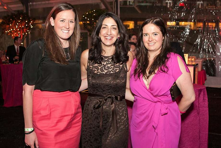 Mary Raleigh, Hearts Benefit Founder Pam Baer and Jennifer Shimer enjoy the Valentine's Day fundraising fete. Photo: Drew Altizer Photography