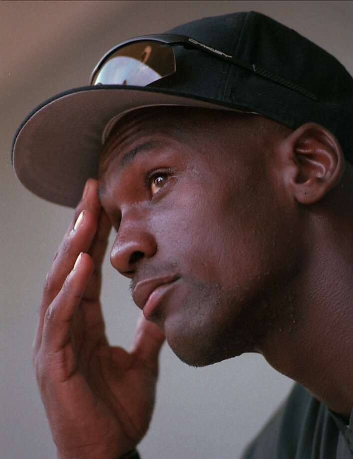 Birmingham Baron's left fielder Michael Jordan talks with reporters on Wednesday, Aug. 10, 1994. Jordan spent one season with the Chicago White Sox affiliate. Photo: Dave Martin, Associated Press