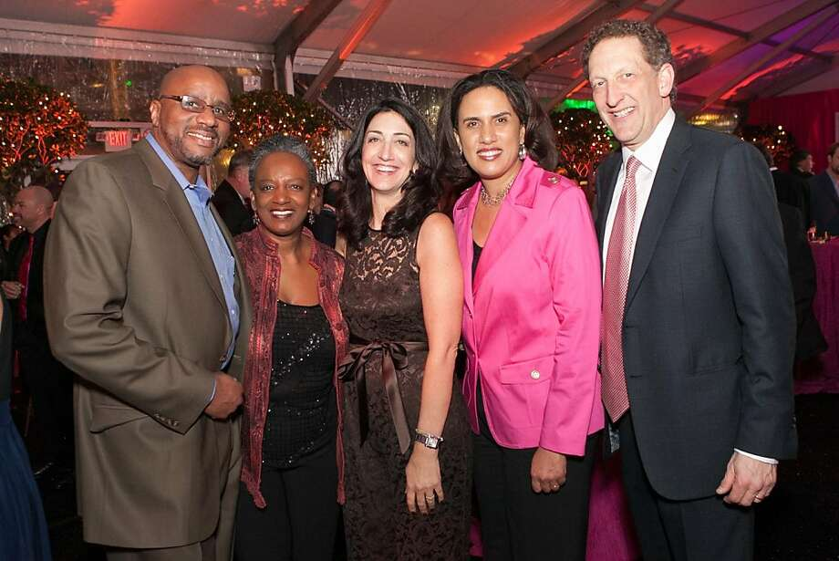 Larnie Bray, Shephanie Bray, Pam Baer, Kirsten Bibbins-Domingo and Larry Baer. Photo: Drew Altizer Photography
