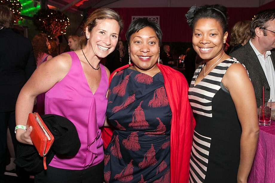 Sophie Hayward, Gwyneth Borden and Cheryl Borden at Hearts After Dark. The fundraising event took place on Valentine's Day evening. Photo: Drew Altizer Photography