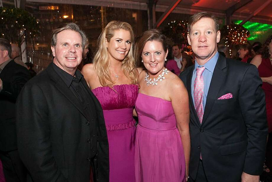 George Drysdale, Kelly Grimes, Co-Chair Aimee Carlson and Billy Carlson. Photo: Drew Altizer Photography