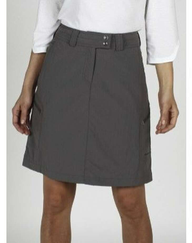 The quick-drying and sun-protective (UPF Sun Guard 30+) ExOfficio Nomad Skirt is rugged enough to wear on a hike in the backcountry, but pretty enough to pick for a lunch in town. Photo: Www.exofficio.com