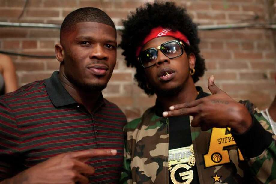 Trinidad James and Andre Johnson at All-Star Party at the Drake hosted by Trinidad James, Andre Johnson and Jas Prince on Thursday, Feb. 14, 2013.Collins Metu Photography Photo: Collins Metu / © 2013 Collins Metu Photography