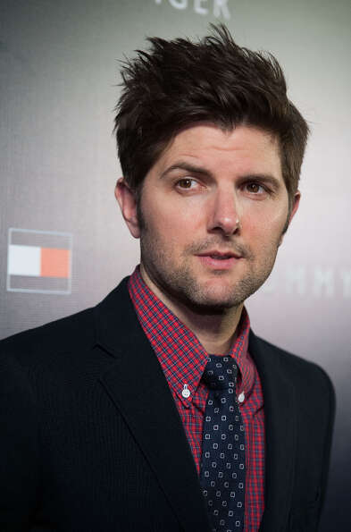 Adam Scott arrives at the  Tommy Hilfiger LA Flagship Opening on February 13, 2013 in Los Angeles, C