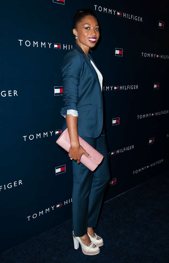 Allyson Felix arrives at the Tommy Hilfiger LA Flagship Opening on February 13, 2013 in Los Angeles, California. Photo: Valerie Macon, Getty Images / 2013 Getty Images