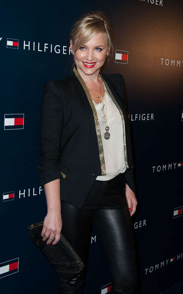 Jessica Capshaw arrives at the Tommy Hilfiger LA Flagship Opening on February 13, 2013 in Los Angele