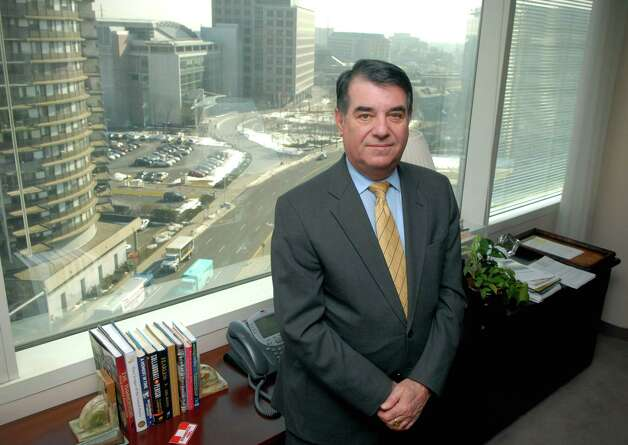 Mayor Michael Pavia in his Stamford, Conn. office on Friday February 15, 2013. Photo: Dru Nadler / Stamford Advocate Freelance