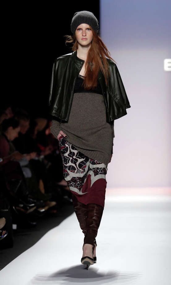 The BCBG Max Azria Fall 2013 collection is modeled during Fashion Week in New York on Thursday, Feb. 7, 2013. (AP Photo/Richard Drew) Photo: Richard Drew, Express-News / AP