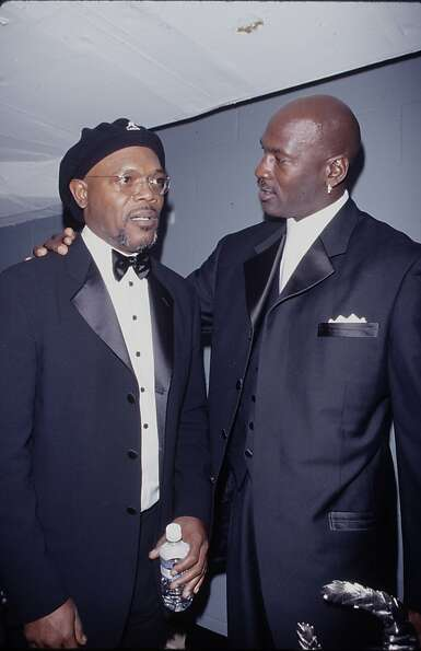 Actor Samuel L. Jackson and professional basketball player Michael Jordan at 20th Century Sports Awa