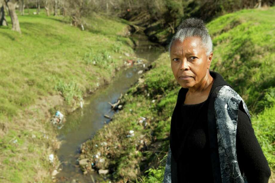 Carroll Parrott Blue stands by a waterway on Martin Luther King Boulevard near Griggs Road that she said has had problems with flooding. Blue is advocating a resurgence in southeast Houston. Photo: Brett Coomer, Houston Chronicle / © 2013 Houston Chronicle