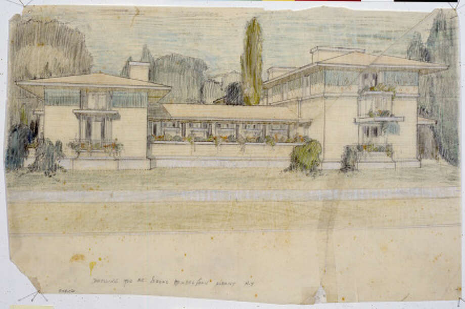 Frank Lloyd WRIGHT?S vision for the Mendelson family?s Albany house was never realized, but the famed architect?s archives do contain sketches related to the project.