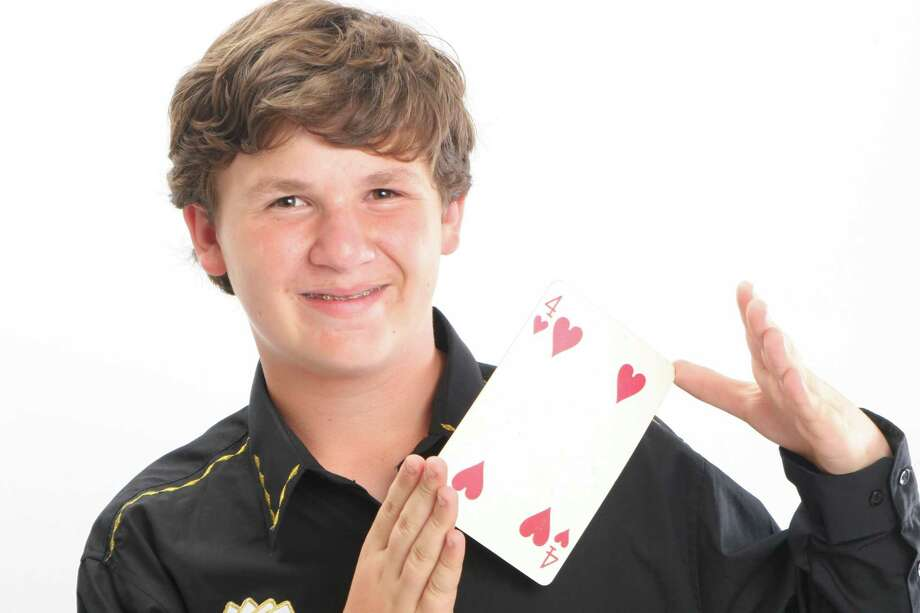 Lee Winters, 13, of Redding, loves to perfect magic tricks. He has amazed many an audience. Card tricks are his favorite to perform; just give him a deck and he can entertain for hours. Photo: Contributed Photo