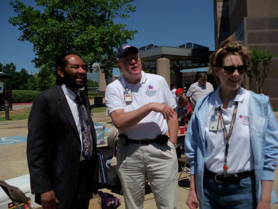 Congressman Al Green hosted an event for Houston's homeless veterans on Saturday, April 21, 2012.
