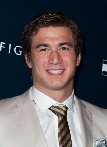 Nathan Adrian arrives at the Tommy Hilfiger LA Flagship Opening on February 13, 2013 in Los Angeles, California. Photo: Valerie Macon, Getty Images / 2013 Getty Images