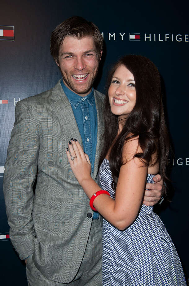 Liam McIntyre and Erin Hasan arrives at the Tommy Hilfiger LA Flagship Opening on February 13, 2013 in Los Angeles, California. Photo: Valerie Macon, Getty Images / 2013 Getty Images