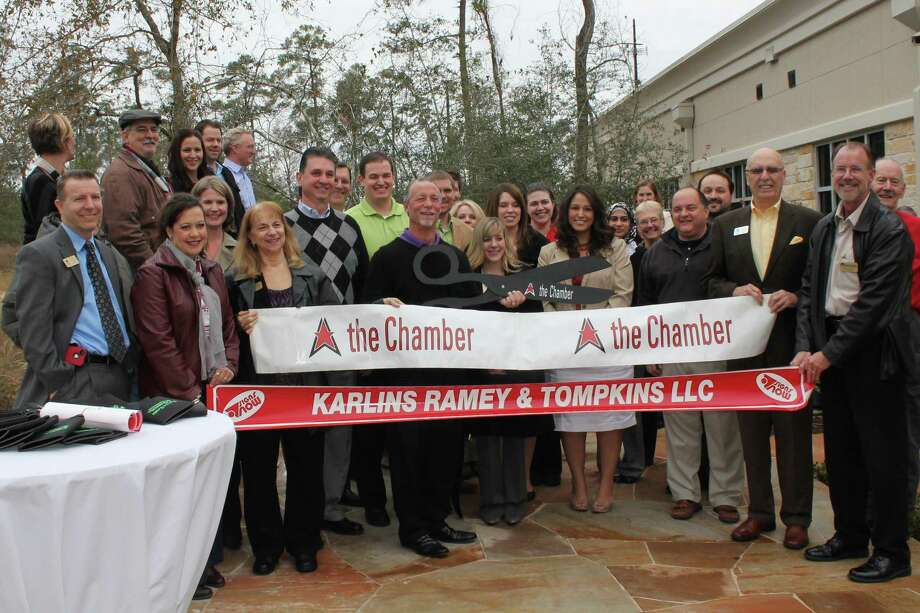 The Woodlands Area Chamber of Commerce recently held a ribbon cutting for Karlins Ramey and Tompkins at its new location in The Woodlands.