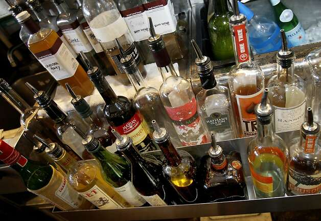 The variety of alcoholic makes and drinks available to consumers is enormous. Researchers have linked the use of alcohol to cancer. This was not surprising to a group at an upscale bar on Grand Avenue near downtown Oakland Thursday February 14, 2013. Photo: Brant Ward, The Chronicle