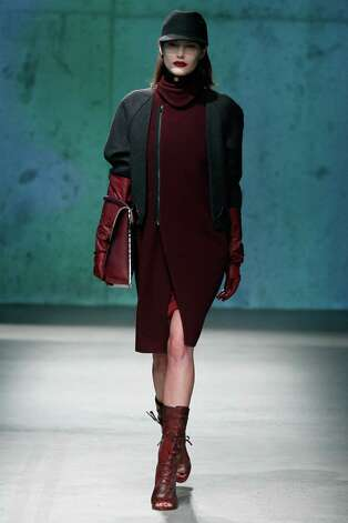 Oxblood popped up at the Kenneth Cole Collection fall show.