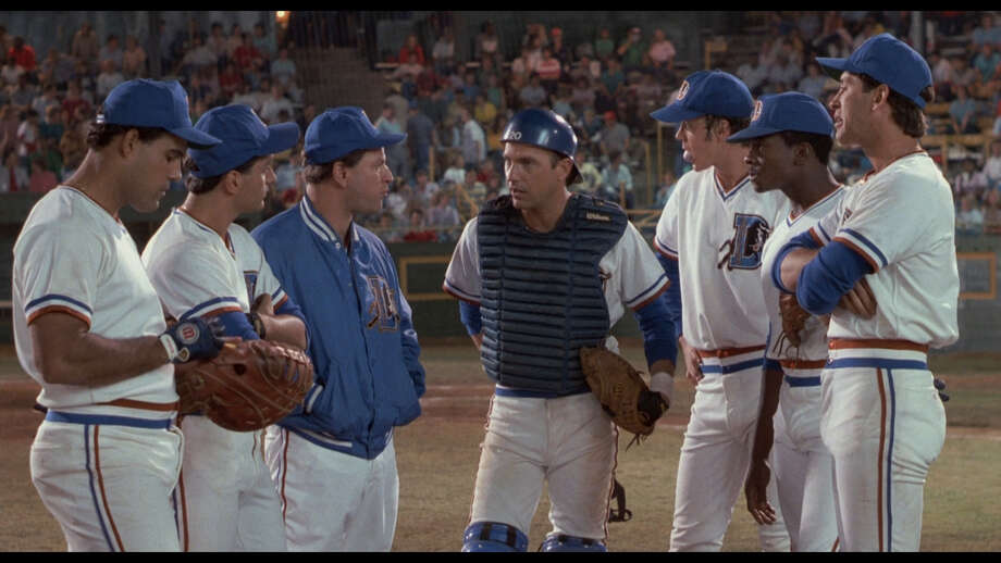 "Robert Wuhl, third from left, stars in ""Bull Durham."" Photo: MGM"