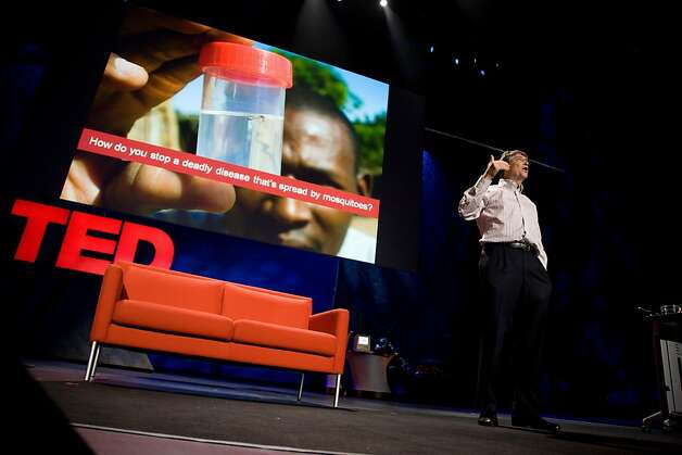 Philanthropist Bill Gates speaks during the opening session of the 2009 TED conference in Long Beach. Photo: Asa Mathat, TED Conferences/TED.com