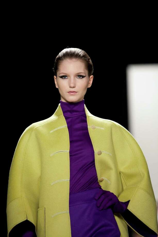 Bold colors were on the runway during the Ralph Rucci Fall 2013 fashion show during Mercedes-Benz Fashion Week in New York. Photo: Karly Domb Sadof, Associated Press / AP