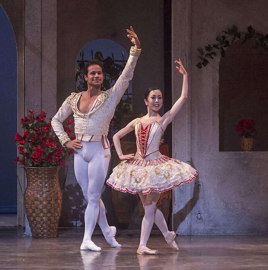 "José Manuel Carreño and Junna Ige in ""Don Quixote."" Photo: Robert Shomler, San Jose Ballet"
