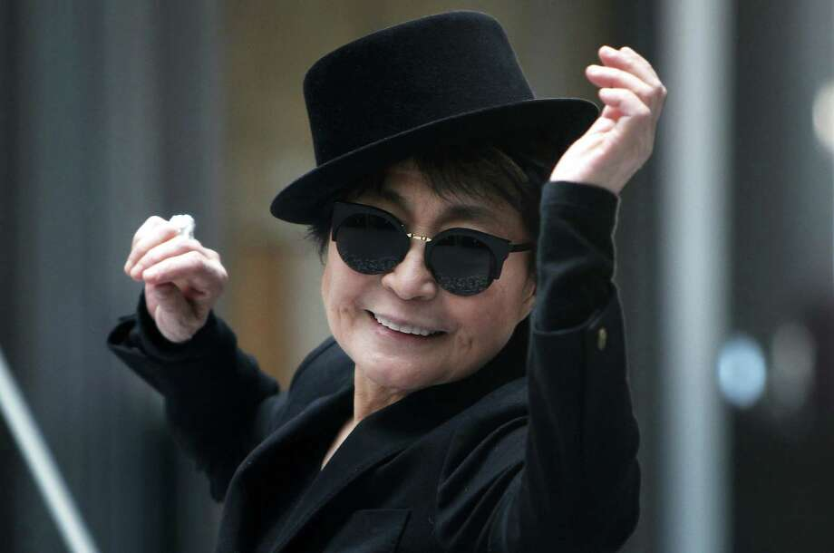 Yoko Ono attends her art show in Germany Thursday. Photo: Getty Images