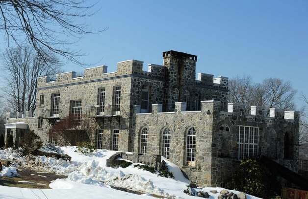 The Stone Castle on the Sisters of the Holy Family of Nazareth property at 1428 Monroe Turnpike in Monroe, Conn. Photo: Autumn Driscoll / Connecticut Post