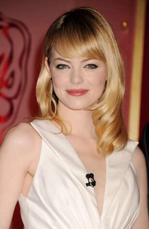 "Sure, Emma Stone is beautiful, but also goofy enough to make you laugh, like when she gaped at Ryan Gosling's abs in ""Crazy, Stupid, Love."""