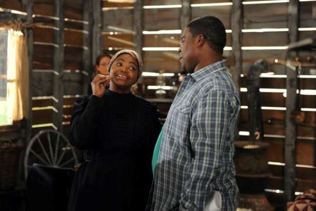 Octavia Spencer in ''30 Rock,'' playing a difficult actress, with actor Tracy Morgan.
