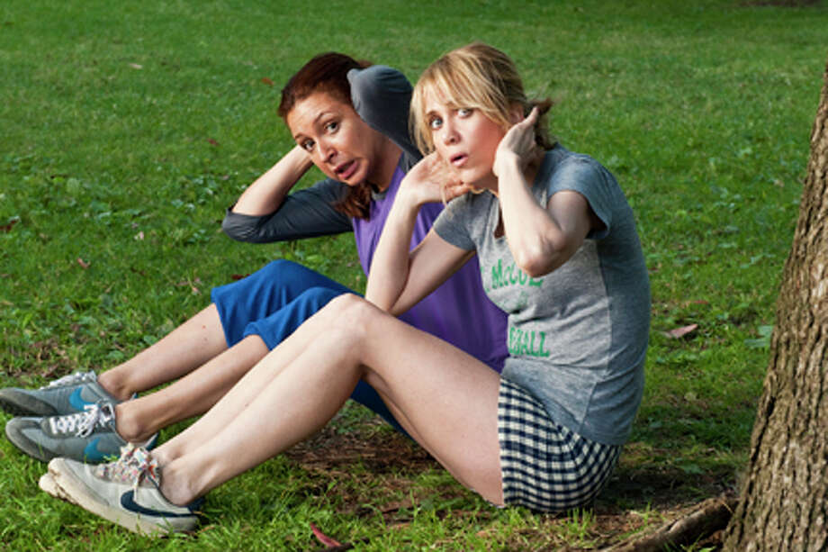 Kristen Wiig(right) as Annie in ``Bridesmaids'' with Maya Rudoph (left).  Photo: Suzy Hanover / 2011 Universal Studios