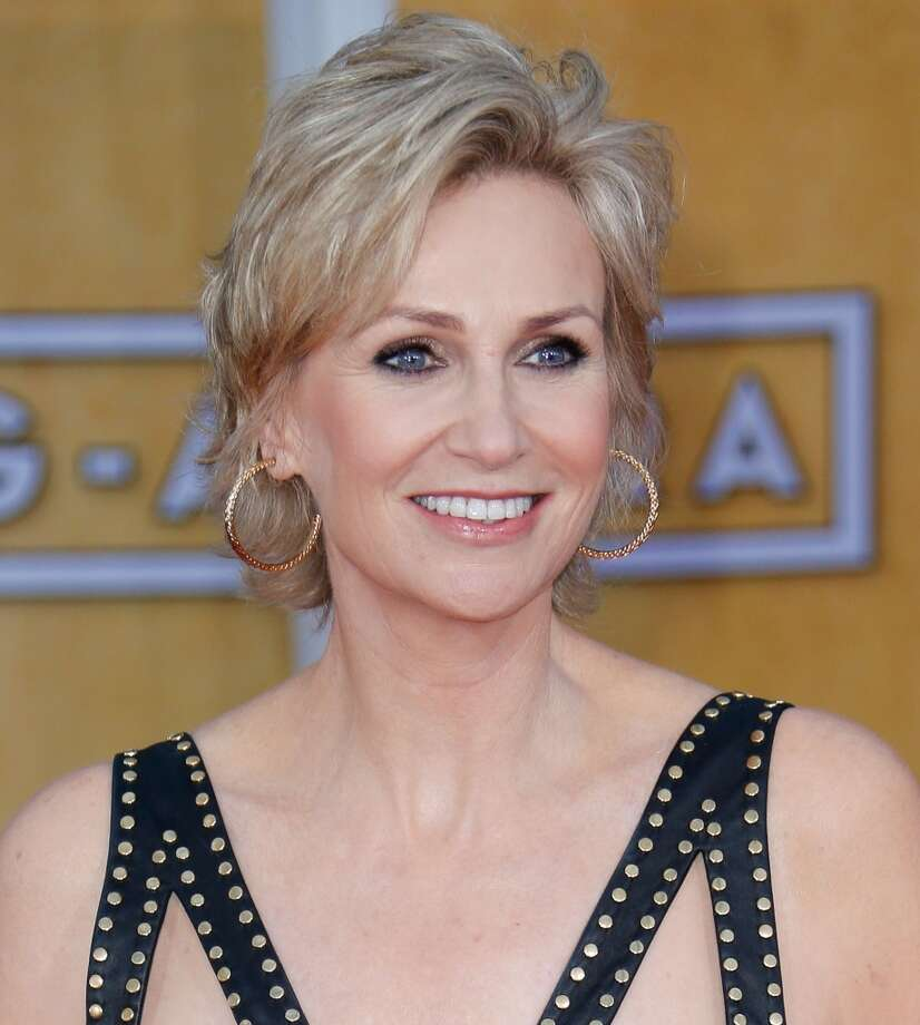 From her man-eating manager in ''The 40-Year-Old Virgin'' to scowling, scheming Sue Sylvester in ''Glee,'' Jane Lynch delivers her lines with straight-faced absurdity.