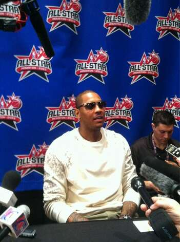@carmeloanthony's ready... Are you? #NBAAllStar 2013 is here.