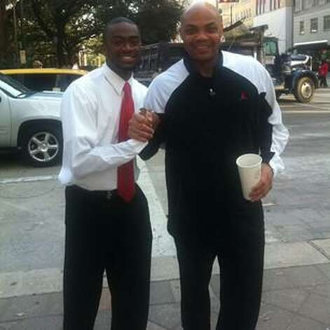 Caught Sir Charles earlier roaming downtown #Houston #AllStarWeekend @TheJetOnTNT shaq…
