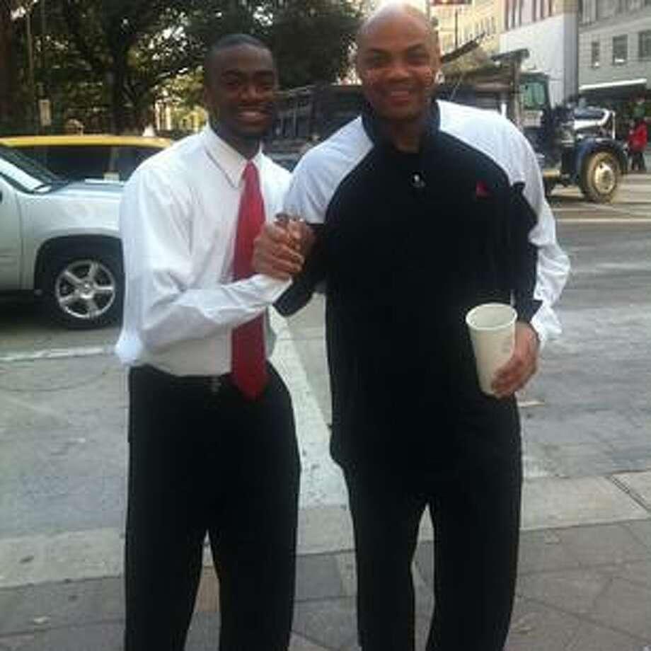 Caught Sir Charles earlier roaming downtown #Houston #AllStarWeekend @TheJetOnTNT shaq…