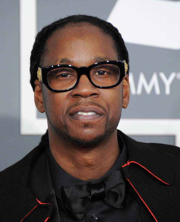 FILE - This Feb. 10, 2013 file photo shows rap artist 2 Chainz at the 55th annual Grammy Awards in Los Angeles. Maryland State Police spokesman Sgt. Marc Black says troopers stopped a van Thursday, Feb. 14, for speeding and smelled marijuana. A backpack in the van was found to have a marijuana grinder and trace amounts of marijuana. 2 Chainz, whose real name is Tauheed Epps, claimed possession of the backpack and was arrested. Black says Epps was cited for having drug paraphernalia and marijuana and was released. The citation carries up to a year in jail and up to a $1,000 fine. (Photo by Jordan Strauss/Invision/AP, file) Photo: Jordan Strauss