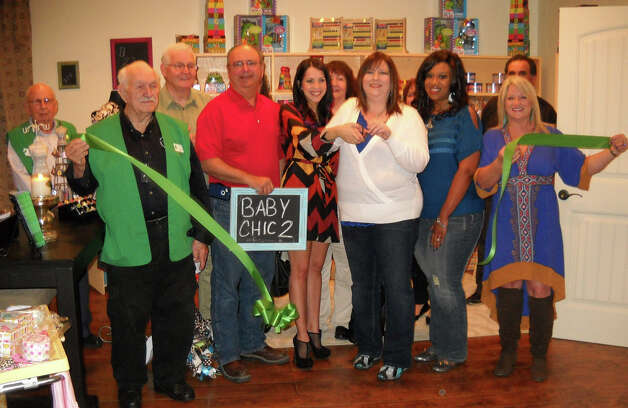 The Groves Chamber of Commerce celebrated a ribbon cutting on Jan. 25 for Baby Chic, located at 4343 Lincoln Avenue in Groves. Photo: Groves Chamber of Commerce.