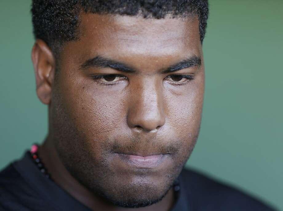 Angel Villalona didn't discuss a past that he wants to put behind him. Photo: Darron Cummings, Associated Press