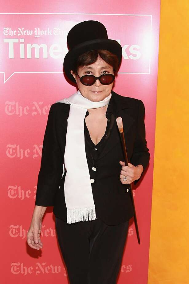 Conceptual artist Yoko Ono, widow of John Lennon, turned 80 Monday. Photo: Taylor Hill, Getty Images