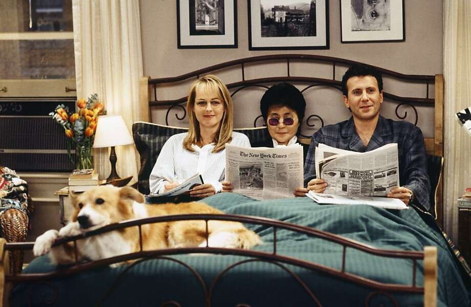 "Helen Hunt as Jamie Stemple Buchman, Yoko Ono as Herself, Paul Reiser as Paul Buchman in an episode on ""Mad About You."" Photo: Nbc"