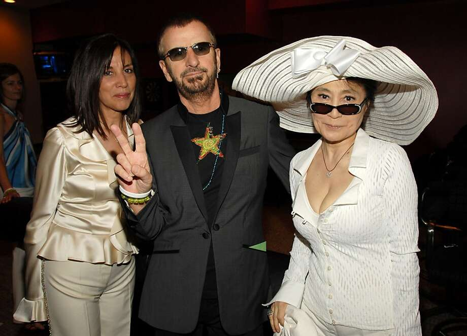 Olivia Harrison, Ringo Starr and Yoko Ono. (Photo by KMazur/WireImage) Photo: KMazur