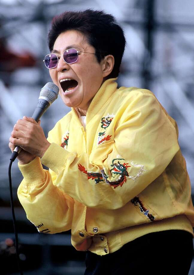 Yoko Ono performing at The Tibetan Freedom Concert at the Polo Fields in Golden Gate Park San Francisco, California on June 16, 1995. (Photo by Tim Mosenfelder/Getty Images) Photo: Tim Mosenfelder