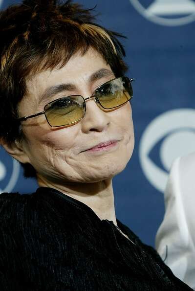 Yoko Ono poses backstage after being honored during a special tribute celebrating the 40th Anniversa