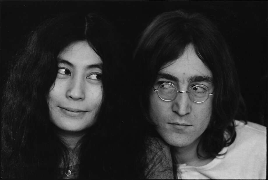 Close-up portrait of Japanese-born artist and musician Yoko Ono and British musican and artist John Lennon (1940 - 1980), December 1968. (Photo by Susan Wood/Getty Images) Photo: Susan Wood/Getty Images, Susan Wood